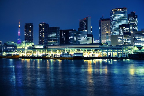 Tsukiji Fish Market at Night by hidesax