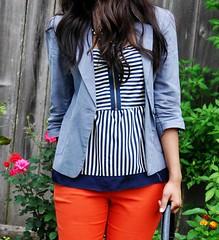 Orange and Nautical Stripes