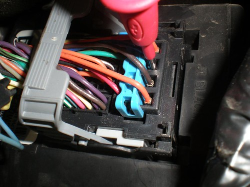 Wire In The Main Wiring Harness Connector Under The Steering Column
