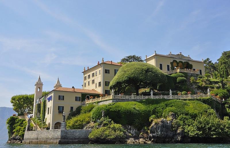 Villa Balbianello-Vista general desde el lago