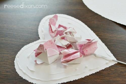 Valentine Heart Bouquet Step 7