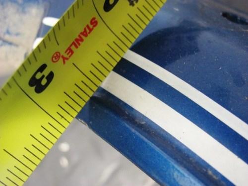Rear Fender Pinstripe Measurement