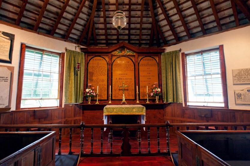 Inside St Peters Church, Bermuda.