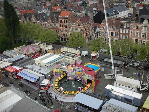 Riding the Ferris Wheel at the Sinksenfoor Fair in Antwerp