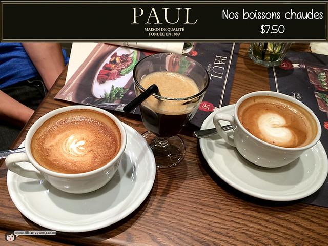 PAUL nos boissons chaudes