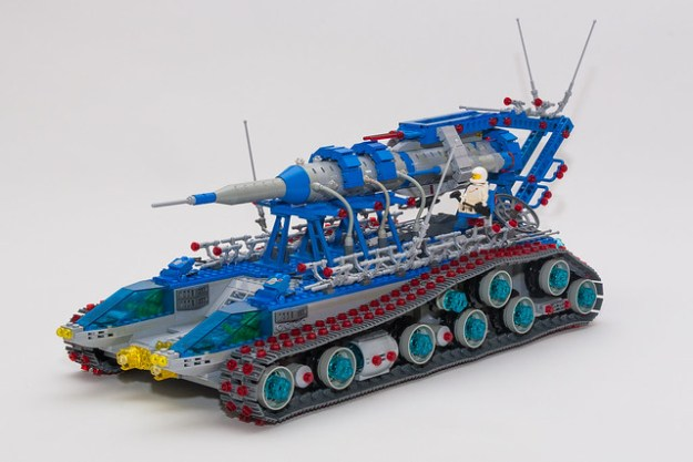 Classic Space Rocket Launch and Recovery Vehicle MOC - 1