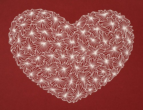 Gel pen Valentine heart