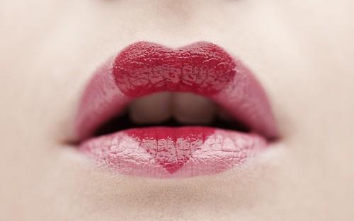 Pink lips heart wallpaper | WallpaperDownload.info