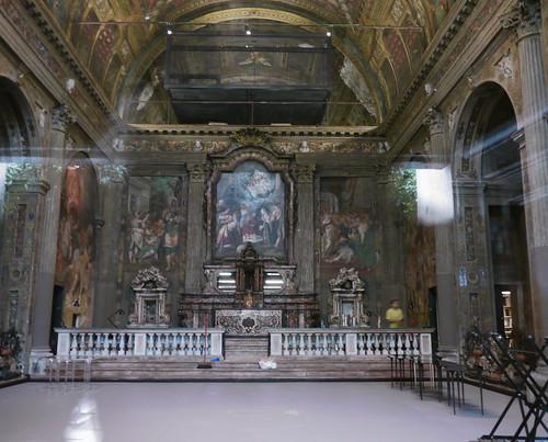 Milan, Italie: église San Paolo Converso abritant plusieurs tableaux et des décorations à fresque de maîtres italiens, et notamment des frères Campi, Giulio, Antonio et Vincenzo, artistes de l'école Cremonèse.
