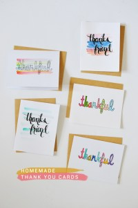diy: homemade thank you cards | CAKIES