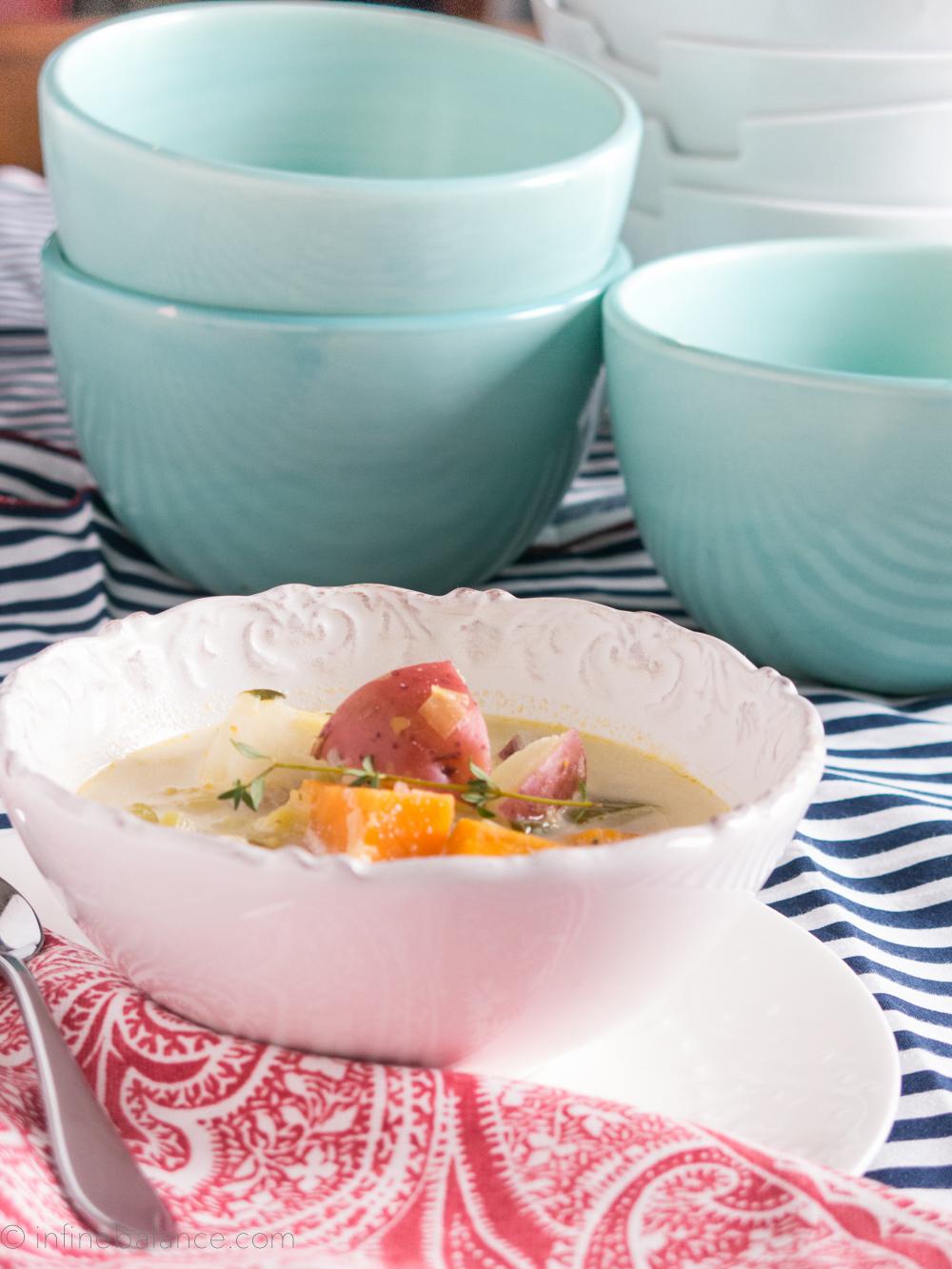2014 Winter Vegetable Soup | www.infinebalance.com  #recipe