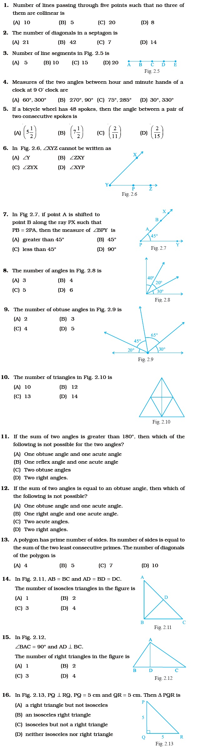 medium resolution of Class 6 Important Questions for Maths – Geometry   AglaSem Schools