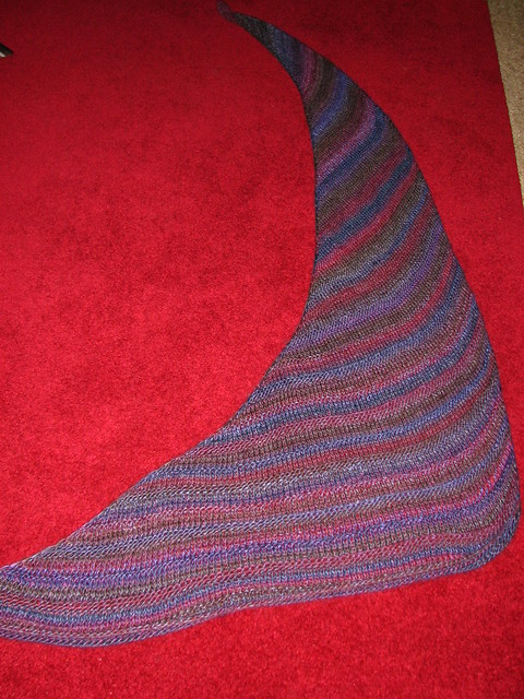 Winter Twilight Boomerang Shawl