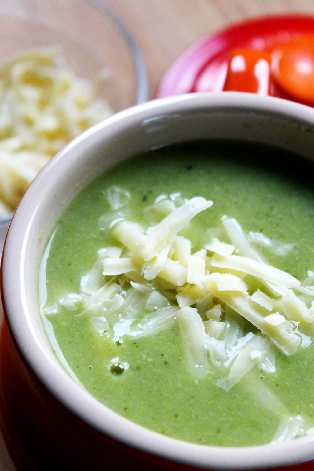 cheesy green soup