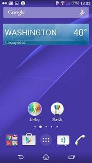Home screen ของ Sony Xperia Z3