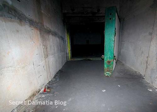 Behind the massive doors