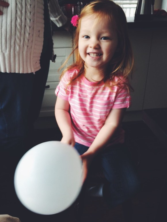 Avery with a Balloon (12/6/14)