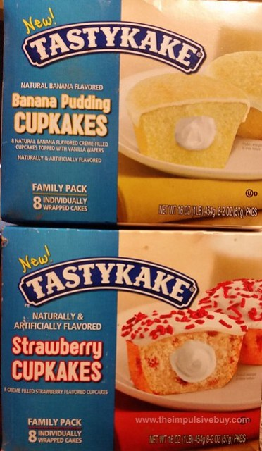 Tastykake Banana Pudding and Strawberry Cupcakes