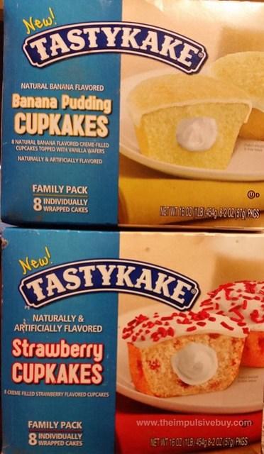 Tastykake Banana Pudding and Strawberry Cupcakes