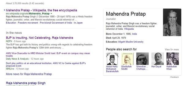 Mahendra Pratap, Wiki