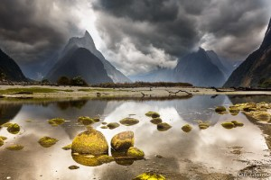 Cloudy Evening on Milford Sound