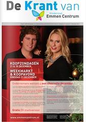 Cover 'De Krant van Vlinderstad Emmen Centrum'   december 2014