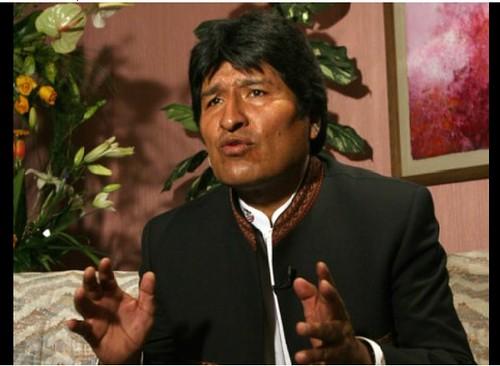 """Con su integración, América Latina vive un """"proceso liberador"""", señala a La Jornada el presidente de Bolivia, Evo Morales. Foto María Meléndrez Parada"""