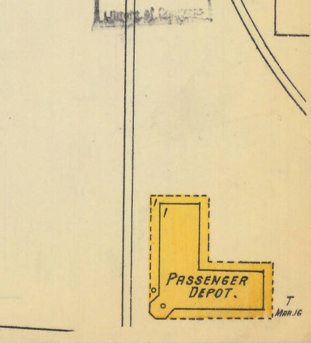 Blackville Depot Sanborn Map