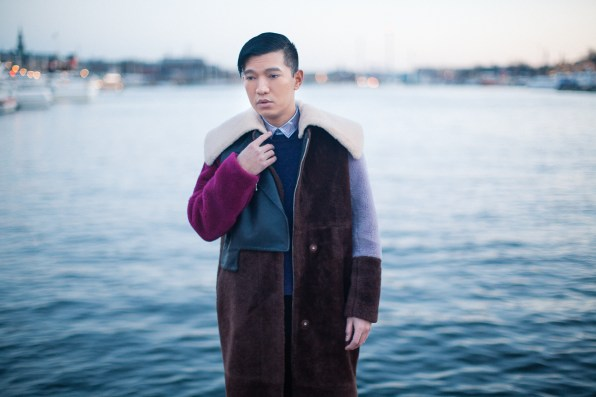 3.1 Phillip Lim shearling coat worn by fashion blogger Bryanboy