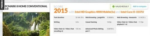 ผลคะแนน PCMark 8 ของ INHON Carbonbook 11.6 นิ้ว