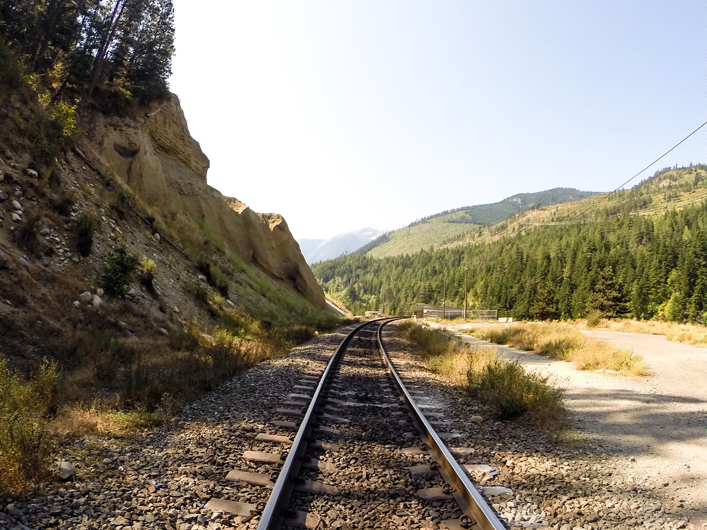 Lytton Railway track Lytton British Columbia
