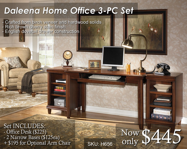 Daleena Home Office 3pc Set - Priced
