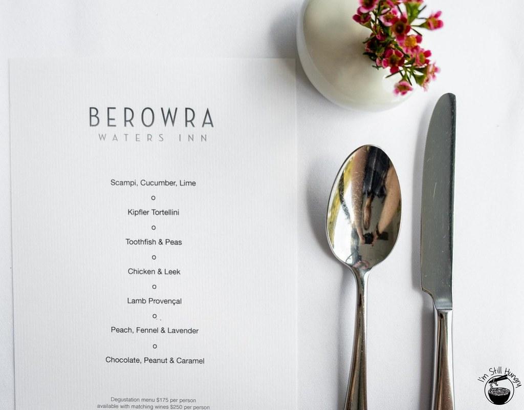 Berowra Waters Inn menu