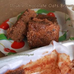 Double Choco Oats brownie3