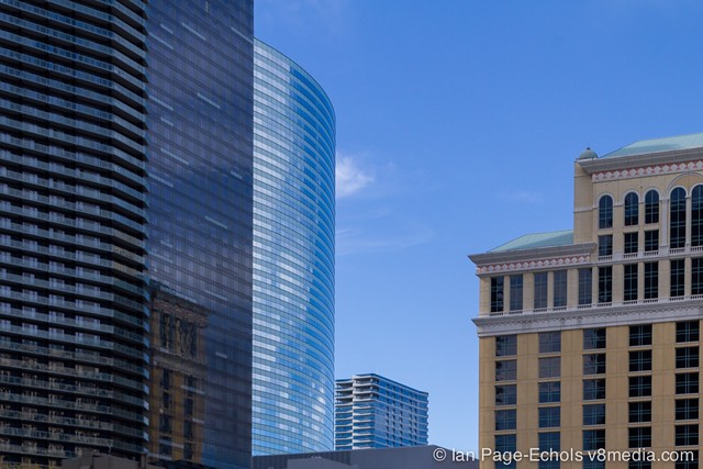 Las Vegas buildings and reflections