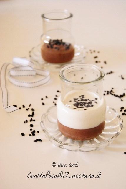 Mousse di yogurt e crema al cioccolato