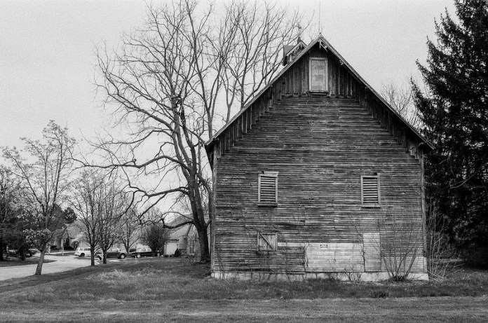 The old barn in the city