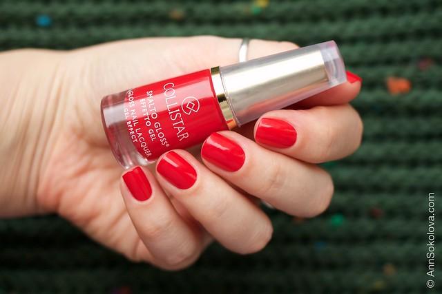 02 Collistar Gloss Nail Lacquer #580 Rosso Sofia