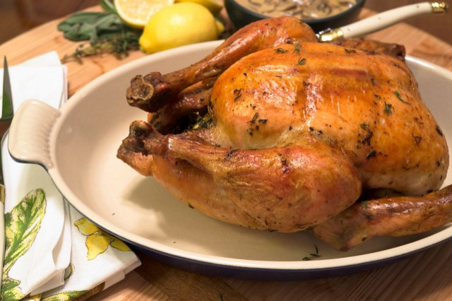 roasted capon