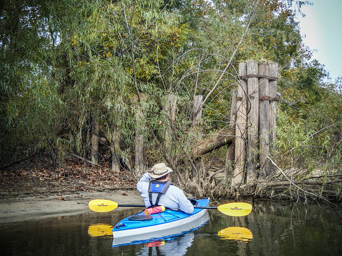 Savannah River from Stokes Bluff with LCU Nov 7, 2014, 4-18 PM Nov 8, 2014, 9-42 AM