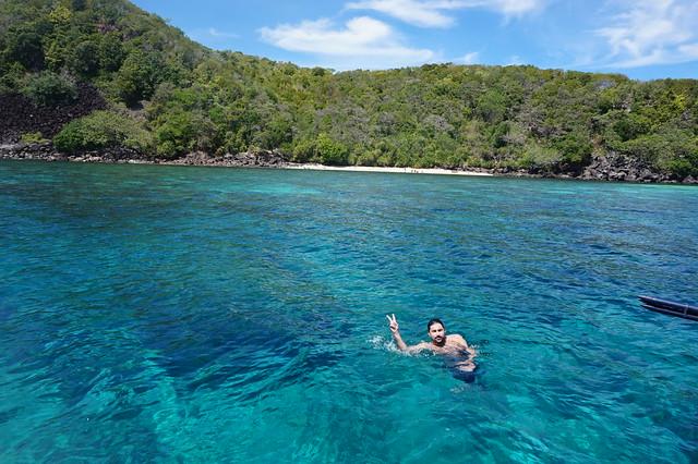 Disfutando Apo island