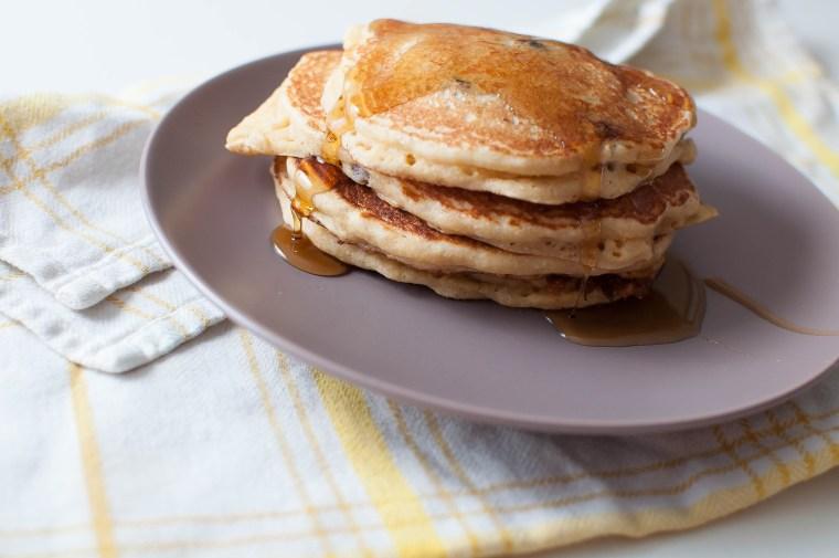 Corny Banana Blueberry Pancakes 3