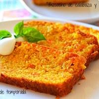 Bizcocho de calabaza y zanahoría