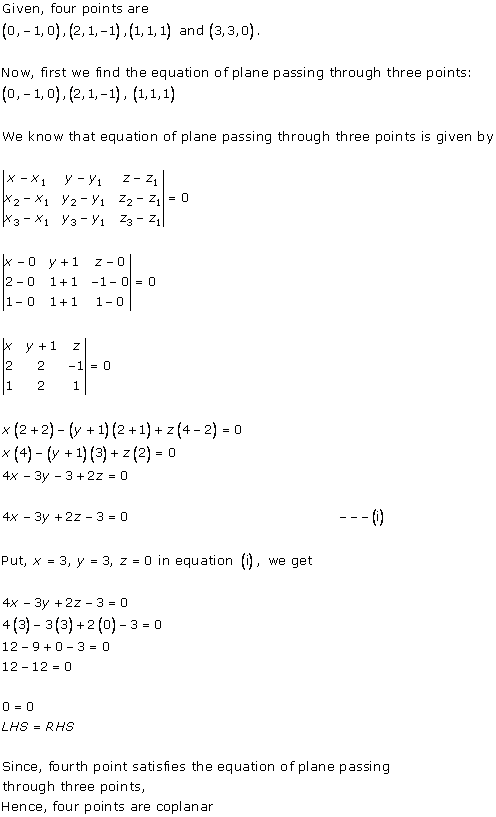 RD Sharma Class 12 Solutions Chapter 29 The Plane 29.1 Q3-i