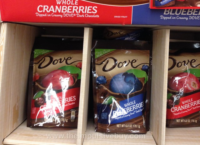 Dove Whole Cranberries and Whole Blueberries Dipped in Dove Dark Chocolate