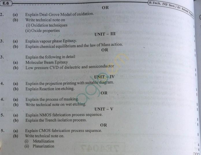 RTU: Question Papers 2013 - 7 Semester - EC - 7E4047