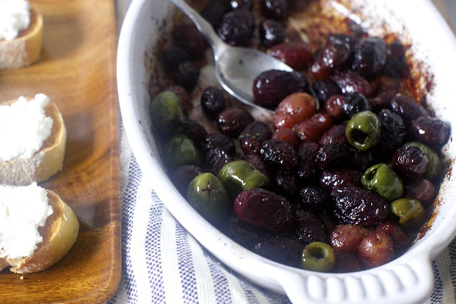 roasted grapes and olives
