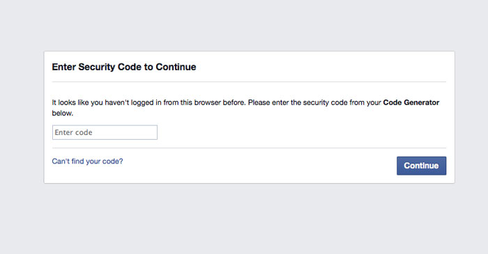 Prevent Facebook account from unauthorized access