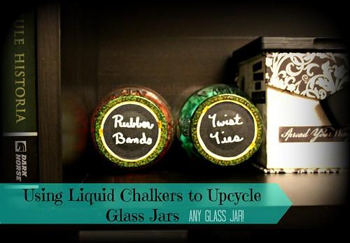 chalkboard labels on glass jars