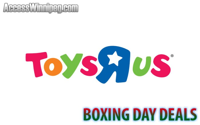 Toys R Us Boxing Day Deals 2019